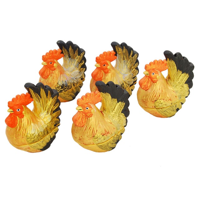 Collection of Rooster Incense Holders - Set of 5 - Image 1 of 5