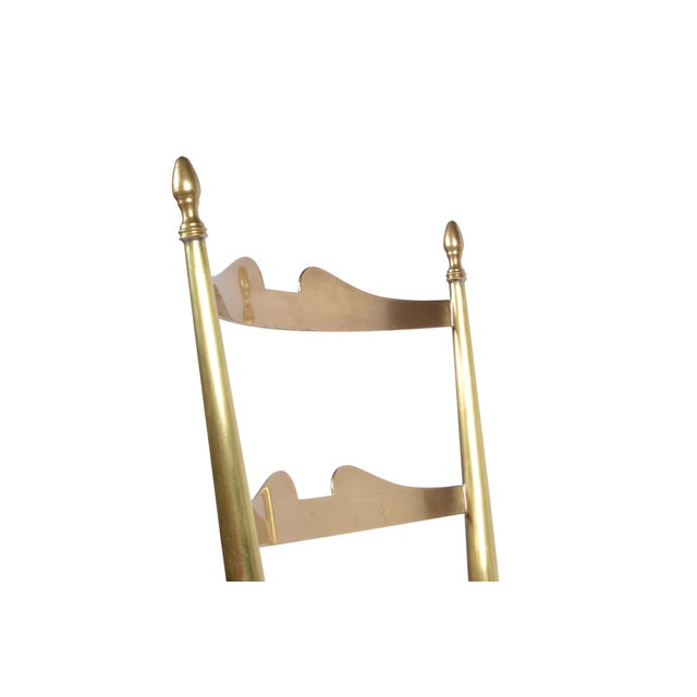 Gold Italian Chiavari Bronze High Back Chairs, a Pair For Sale - Image 8 of 12