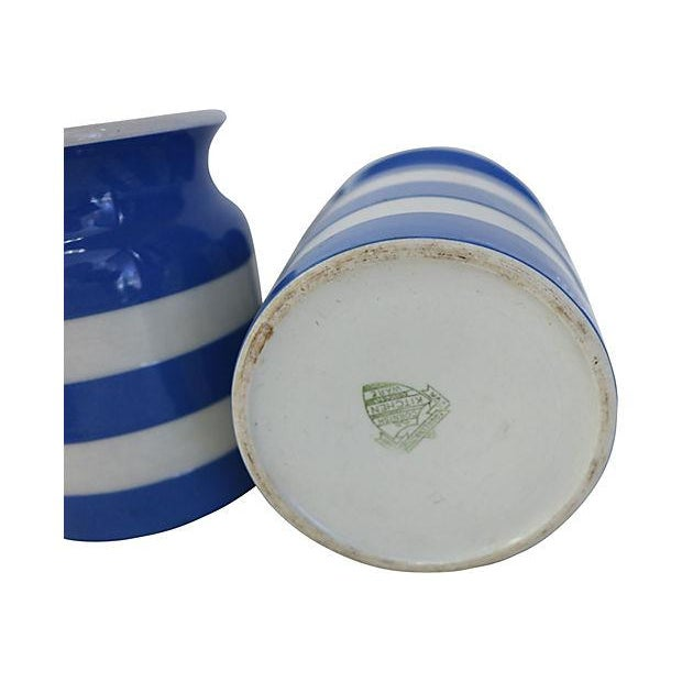 Vintage English Cornishware Canisters - Set of 3 - Image 4 of 4