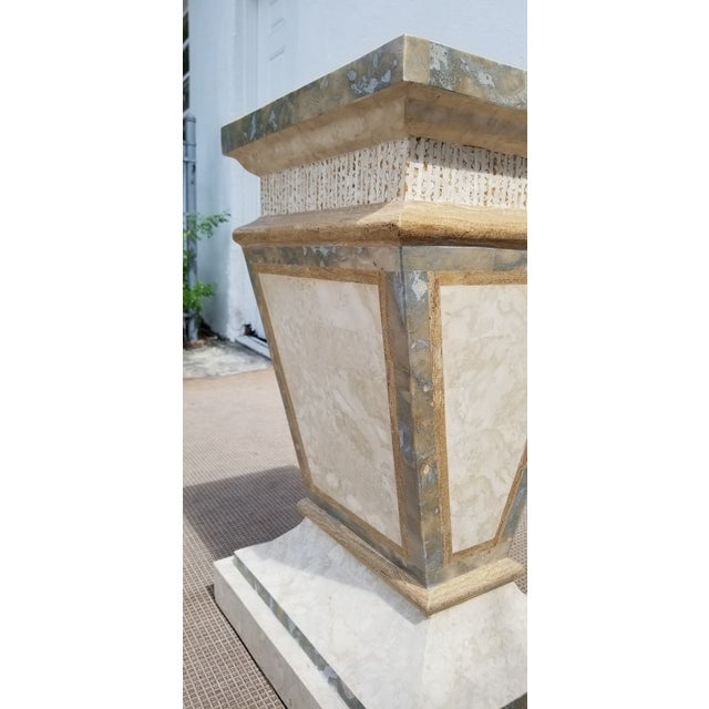 1980s 1980s Vintage Maitland Smith Tessellated Stone Pedestal For Sale - Image 5 of 9