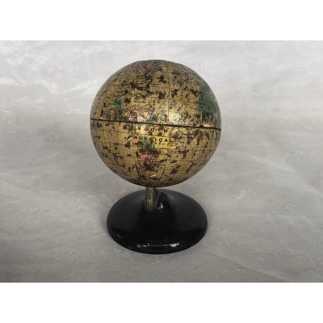 Vintage World Desk Globe Die Cast Metal Bank For Sale In New York - Image 6 of 13