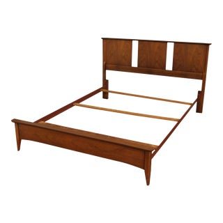 Mid Century Modern Vintage Walnut Full Size Bed For Sale