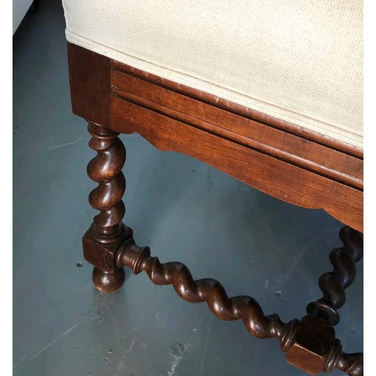 Elizabethan-Style Chaise For Sale In West Palm - Image 6 of 8