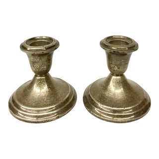 Gotham Sterling Weighted Candle Holders - A Pair For Sale