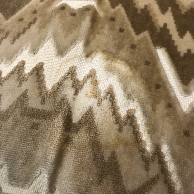 Textile Mid-Century Erwin Lambeth for John Stuart Curved Sofa For Sale - Image 7 of 9