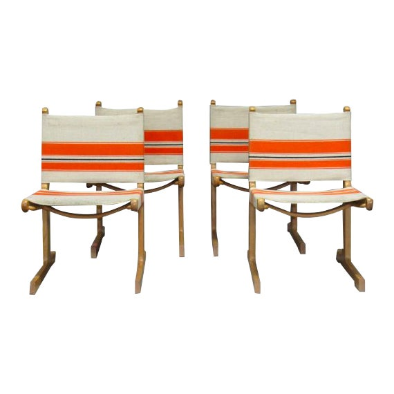 Cantilevered Dining Chairs by Ditte & Adrian Heath for France & Son- Set of 4 For Sale