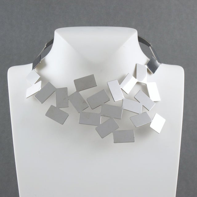 Alessi Mario Trimarchi for Alessi Stainless Steel Futurist Collar Necklace For Sale - Image 4 of 10