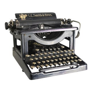 1905 Antique Lc Smith Manual Typewriter