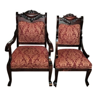 19th Century Antique Empire Revival Chairs - a Pair For Sale