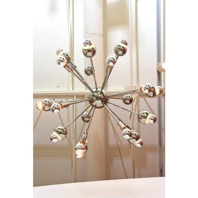 Nickel Silver 24 Bulb Sputnik Vintage Chandelier - Image 3 of 10