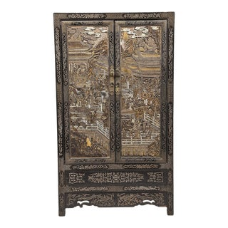 19th Century Qing Dynasty Chinese Lacquer Cabinet For Sale