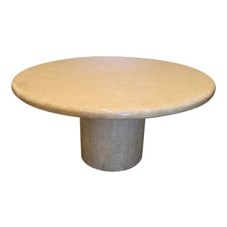 Modern Tessellated Bone Mosaic Round Dining Table For Sale