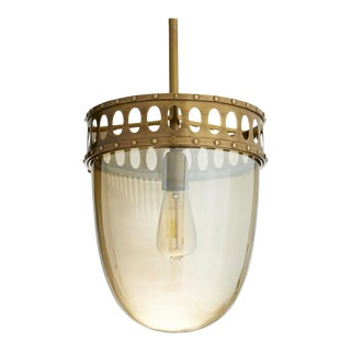 Arteriors Modern Antique Brass Finished Eaton Pendant Light For Sale