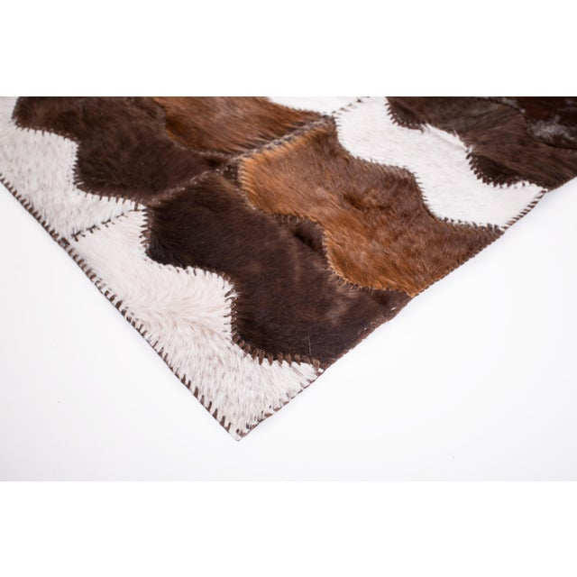 """Cowhide Patchwork Area Rug - 4' x 6'4"""" - Image 4 of 8"""