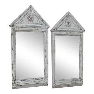 Pair 19th Century Painted Mirrors For Sale