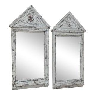 Pair 19th Century Painted Mirrors