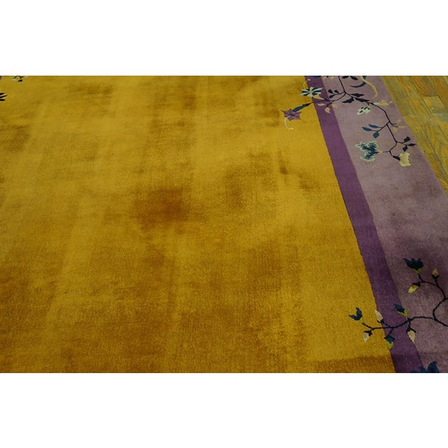 1920s Antique Chinese Art Deco Rug- 6′ × 8′8″ For Sale - Image 4 of 7