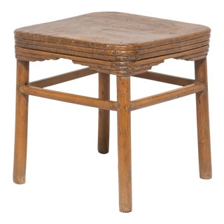 19th Century Chinese Burled Top Feng Deng For Sale
