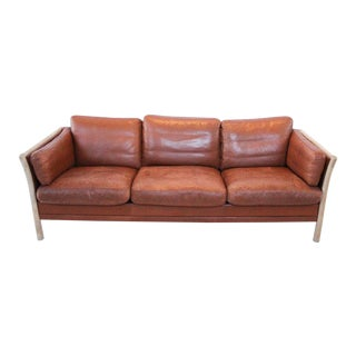 Mid-Century Leather Couch For Sale