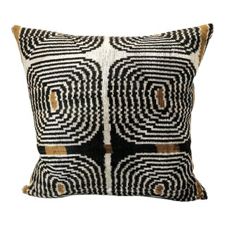 Mid-Century Style Silk Velvet Down Feather Pillow For Sale