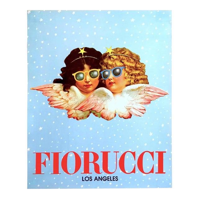 "Rare Original Vintage 1980 "" Fiorucci Los Angeles "" New Wave Post Modern Italian Fashion Pop Art Poster For Sale"