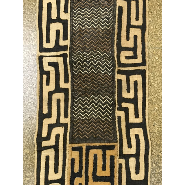 African Art Tribal Art Handwoven Kuba Cloth - Image 7 of 7