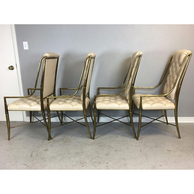 1970s Mastercraft Brass Dining Chairs - Set of 4 For Sale - Image 5 of 9