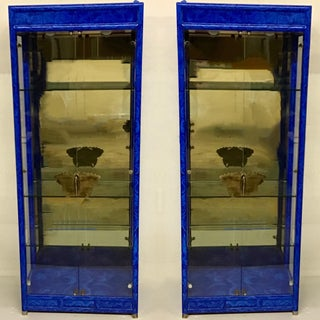 Pair of Faux Lapis Modern Cabinets Preview