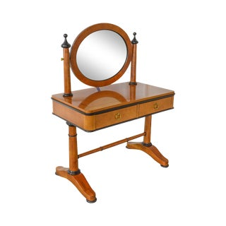 Biedermeier Style Vanity Dressing Table w/ Oval Mirror by National Mt. Airy