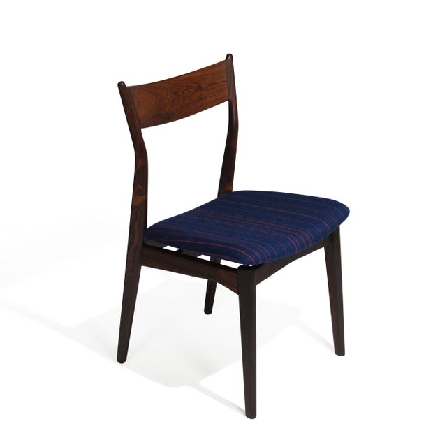 Red H. P. Hansen for Randers Danish Rosewood Dining Chairs - Set of 6 For Sale - Image 8 of 11