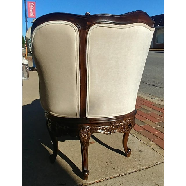 Henredon Furniture Sabine Mahogany Left Arm Chaise For Sale - Image 9 of 12
