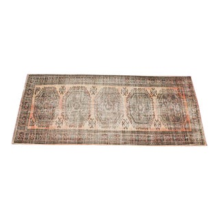 "Turkish Tribal Bohemian Runner Rug - 4'8"" x 11'1"" For Sale"