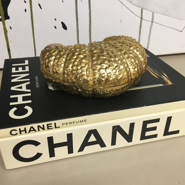 Adorable gift idea!! Gold Metal trinket box in the shape of a croissant. Hide your beloved treasures or give as a gift!