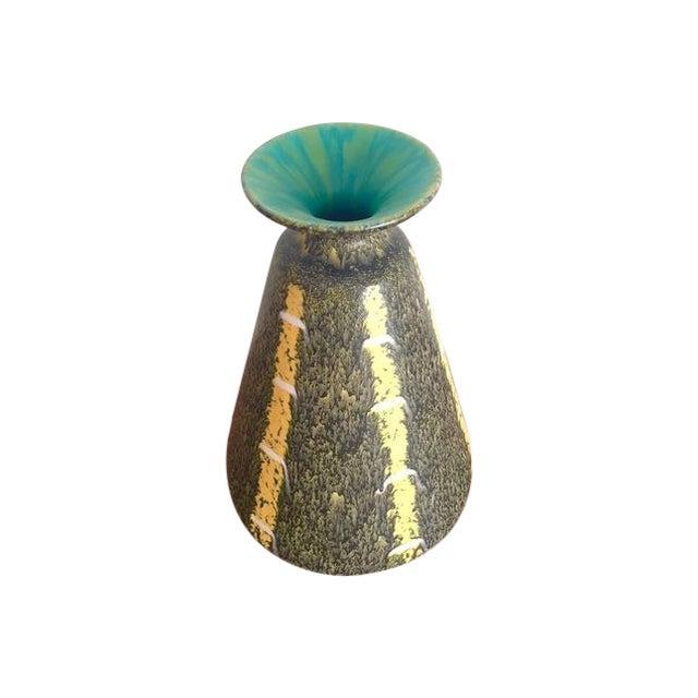 Scheurich Ceramics Yellow Striped Vase - Image 1 of 4