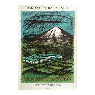 """Bernard Buffet Rare Vintage 1980 """" Mourlot Au Japon """" French Lithograph Print Exhibition Poster"""