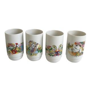 1960s Danish Modern Bjorn Wiinblad Rosenthal Cups - Set of 4 For Sale