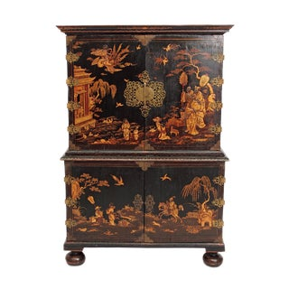 Queen Anne Collectors Cabinet / Japanned