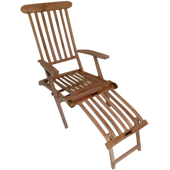 Vintage RMS Queen Elizabeth Cruise Line Deck Chair - Image 1 of 11