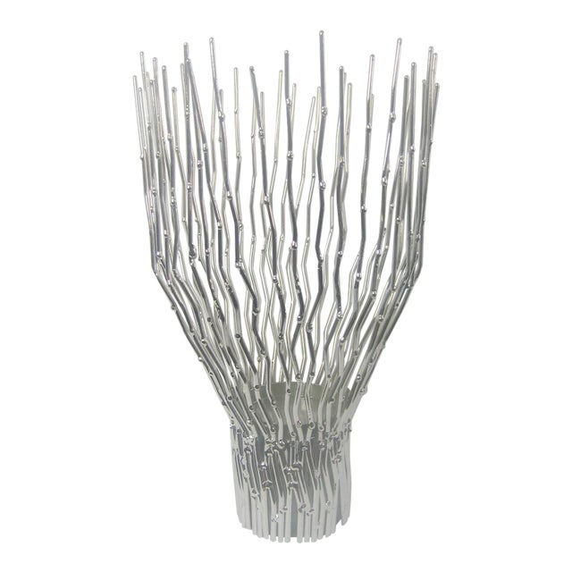 Arteriors Home Silver Tree Twig Bundle Pillar Candle Holder For Sale