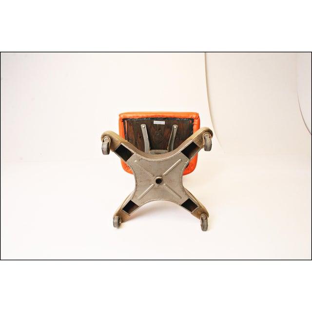 Vintage Orange Industrial Steel Office Chair - Image 10 of 11