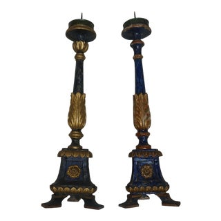 18th Century Candle Sticks - A Pair For Sale