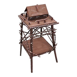 Twig Side Table w/Cabin For Sale