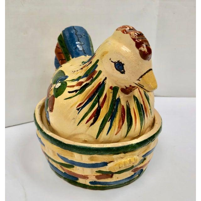 Ceramic Mexican Tlaquepaque Folk Art Nesting Chicken For Sale - Image 7 of 12