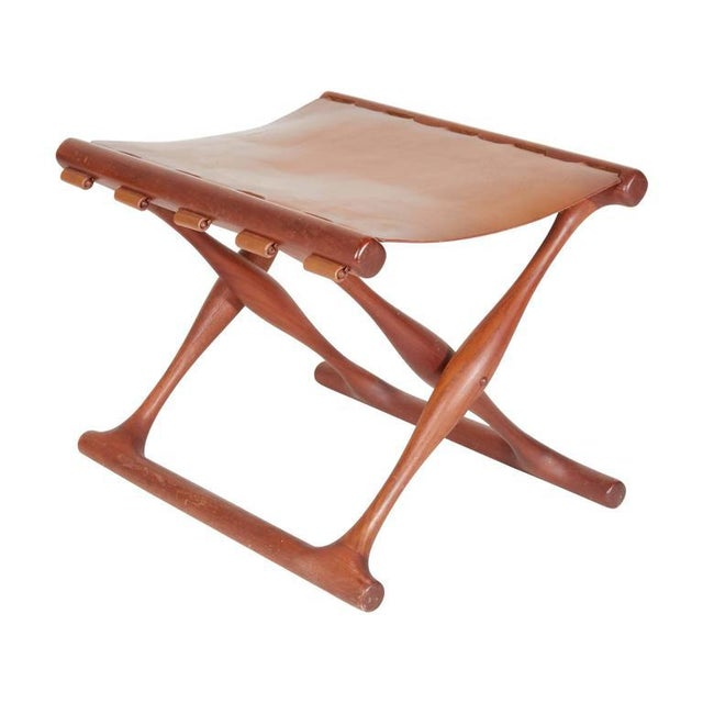 Poul Hundevad Folding Stool For Sale In New York - Image 6 of 6