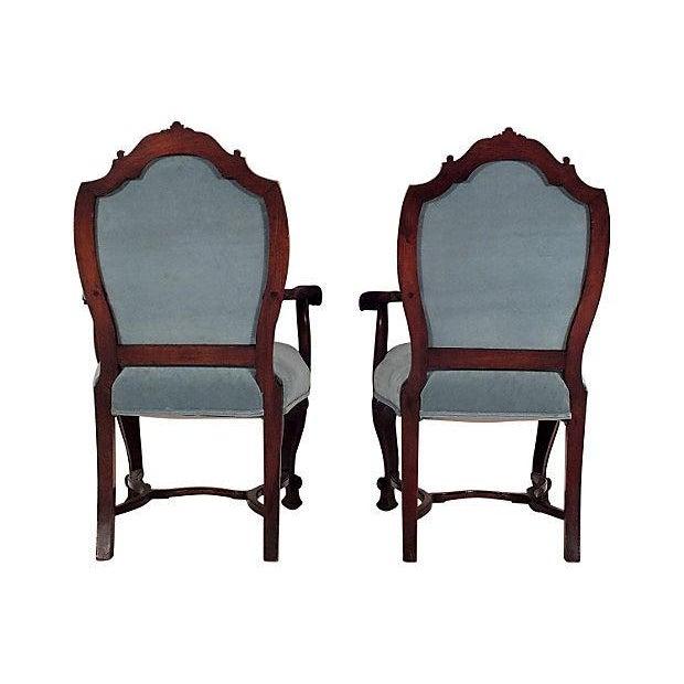 Regency Mahogany Open Armchairs - A Pair - Image 3 of 6