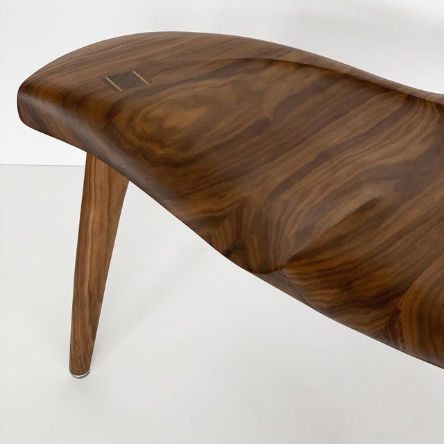 "Sculptural Walnut ""Whale"" Chair Morten Stenbaek For Sale - Image 10 of 13"