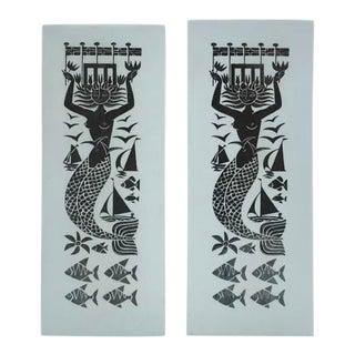 """Grazia"" Ceramic Vases by Stig Linberg - Set of 2 For Sale"
