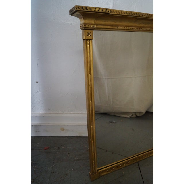 Antique Gilt Wood Impressionist Wall Mirror For Sale In Philadelphia - Image 6 of 10