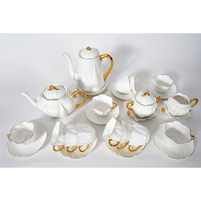 Vintage Shelley English porcelain tea / coffee service for twelve people . Every piece is in excellent vintage condition ,...