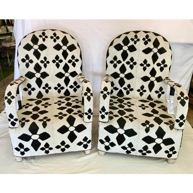 African Beaded Nobility Chairs Handcrafted by Yoruba Artisans - a Pair For Sale - Image 13 of 13